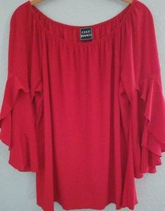 Coco Blanco Red Blouse
